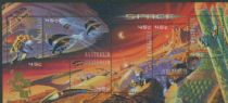 AUS SGMS2049 Stamp Collecting Month: Exploration of Mars miniature sheet with Hong Kong overprint